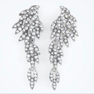 Antique Style Rhinestone Crystal Dangle Earrings
